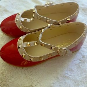 Other - Little girls red studded shoes / Valentino style